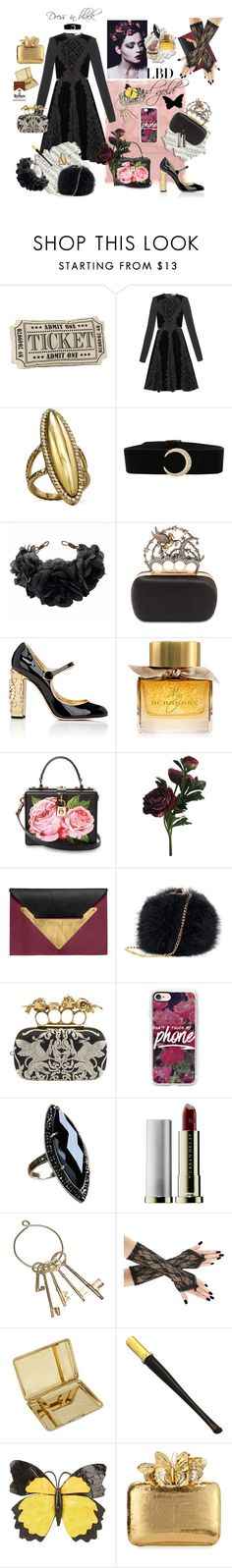 """Black gold"" by whiteangelsoul ❤ liked on Polyvore featuring Rothko, Givenchy, House of Harlow 1960, Rock 'N Rose, Alexander McQueen, Dolce&Gabbana, Burberry, Dareen Hakim, Casetify and Urban Decay"