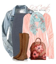"""""""Cold Spring Day!"""" by lv2create ❤ liked on Polyvore featuring Old Navy, Fat Face, American Eagle Outfitters, Timeless, With Love From CA, Burberry, women's clothing, women, female and woman"""