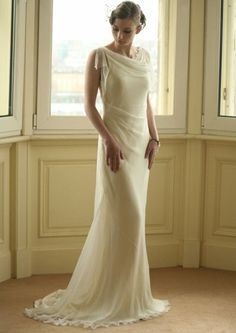 Holy crap. I want that dress...  20's-inspired wedding dresses