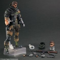 Metal Gear Solid Snake Boîte en carton PVC Action Figure Collection Anime