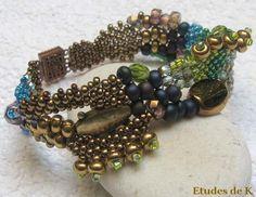 Atelier créatif à La Mercerie : Bracelet Peyote en Free-Form