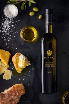 Tokara olive oil has garnered global acclaim: it has been included in Flos Olei an international guide to the world's best extra virgin olive oils. Wine Photography, Food Photography Styling, Food Styling, Olive Oil For Eyelashes, Olive Oil Packaging, Extra Virgin Oil, Olive Oil Bottles, Oil Shop, Gastronomia
