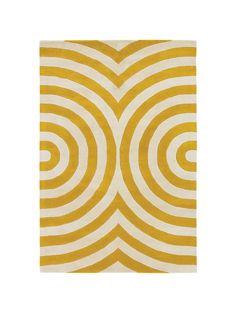 ThomasPaul Wave Rug, Yellow