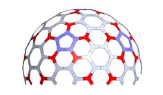 Design for a CNC cut plywood geodesic hex dome. Based on the geometry of a 4 frequency class II geodesic sphere. Designer: Robert Clark.
