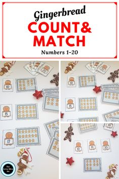 This Gingerbread counting math center is perfect for the holidays and makes for a fun addition to your gingerbread themed unit. This gingerbread math activity is an interactive and engaging way for preschool (pre-k) and kindergarten students to master counting and number recognition. This activity will help children learn to count from 1 to 20 and identify numbers. #gingerbreadcounting #gingerbreadmathcenter #Gingerbreadmathpreschool #gingerbreadmathkindergarten #gingerbreadmathactivities
