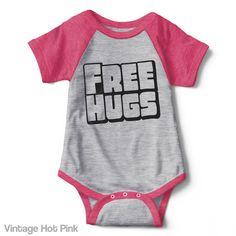 Free Hugs - Infant Baseball Creeper
