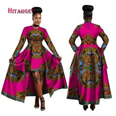 Brand Name: HITARGET Special Use: Traditional Clothing Item Type: Africa Clothing Material: Silk,Cotton Gender: Women Model Number: Type: Kanga Clothing Gender: Woman Special use: Traditional clothing Item type: African Clothing Type: African Cloth African Dresses For Women, African Attire, African Fashion Dresses, Fashion Outfits, African Clothes, Fashion Ideas, African Dress Designs, Fashion Styles, Modern African Dresses