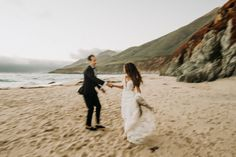 """Romantic Big Sur Coast of California. This bride and groom said """"I Do"""" on one of the many beaches at Big Sur. Then we adventured to the cliffs and redwoods. So many great memories for such a fun day! Big Sur California, Beach Elopement, Great Memories, Good Day, Beaches, Groom, Coast, Romantic, Adventure"""
