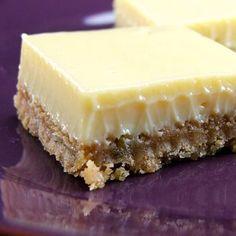 Creamy Lime Bars, like a mini-key lime pie!