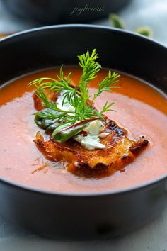 Simple Roasted Tomato Soup by onetwosimplecooking #Soup #Tomato