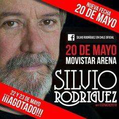 Promocional de los conciertos que ofreció Silvio Rodríguez en Chile, 2015.