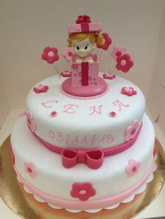 baby shower or 1st birthday fondant cake