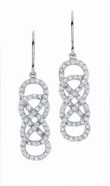 Shopping Buzz: White shirts and 'Revenge' jewelry - Houston Chronicle  INFINITY X INFINITY jewelry collection, available exclusively at Helzberg Diamonds. These earrings are $1299.99.  Photo: Helzberg Diamonds