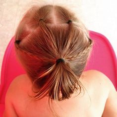 little girls hairstyle with ponytails