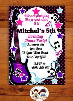 Maryam's Rockstar Birthday party  | CatchMyParty.com