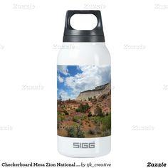 Checkerboard Mesa Zion National Park Utah Thermos Bottle