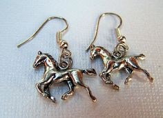 Silver Horse Earrings Horse Jewelry Equestrian Arabian Girls - pinned by pin4etsy.com