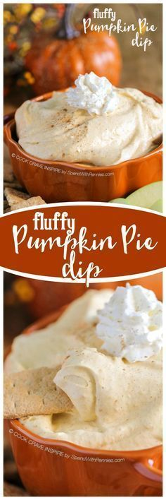 Pumpkin Dip {Fluffy Fruit Dip} - Spend with Pennies This Fluffy Pumpkin Pie Dip delivers tons of fall flavor in a fluffy no bake dip! Pumpkin & warm spices combined with a rich creamy base makes the perfect dip for apples, bananas and more! Pumpkin Pie Dip, Pumpkin Dessert, Pumpkin Spice, Pumpkin Pumpkin, Canned Pumpkin, Pumpkin Fluff, Pumpkin Foods, Dip Recipes, Fall Recipes