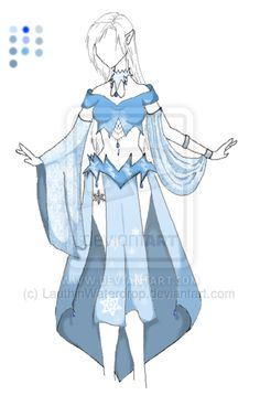 Fashion Adoptable - $5 (Winter Dancer) by LauthinWaterdrop on DeviantArt