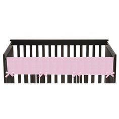 The Sweet Jojo Designs Crib Rail Guard Covers are the best solution to combine safety and style. Now you can protect your baby from wood splinters and paint chemicals during the teething months, without giving up the look of your nursery. In addition, for those parents that choose not to use a bumper, you will now have a stylish safety solution for your room. Features an exclusive super soft pink chenille fabric with coordinating pink satin ties. Easy machine washing and drying. Attaches…