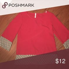 Red Blouse never worn. Yoyo Tops Blouses