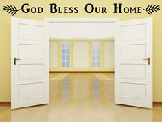 God Bless Our Home Vinyl Wall Decal, Entryway Decal, God Bless, Welcome Vinyl Wall Art, Bless Our Home, Custom Vinyl Lettering, Custom Decal