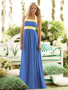 The long version of cornflower and sunflower colors-instead of the cornflower for mine, i want it royal blue and of course a different style on top of the dress, instead of the halter thing.