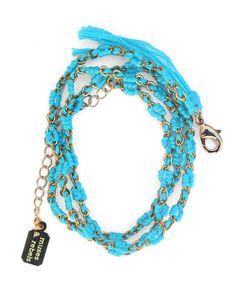 The Gold Turquoise Wrap Bracelet by JewelMint.com, $88.00
