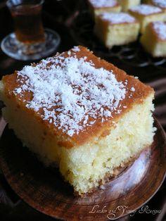 Lecker and Yummy Recipes: Revani/Basboosa Sweet Recipes, Cake Recipes, Dessert Recipes, Yummy Recipes, Potluck Recipes, Lemon Recipes, Albanian Recipes, Turkish Recipes, Arabic Recipes
