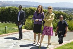 """The Closer TV Show Cast   Corey Reynolds, Mary McDonnell and Kyra Sedgwick in """"The Closer"""""""