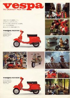 Scooter Garage, Moto Scooter, Vespa Ape, Best Scooter, Vespa Lambretta, Vespa Scooters, Flat Color Palette, Italian Scooter, Old Advertisements