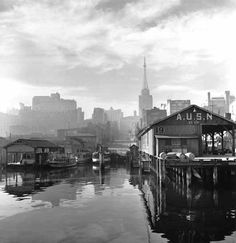 David Moore - Erskine Street and AWA tower – c. 1947