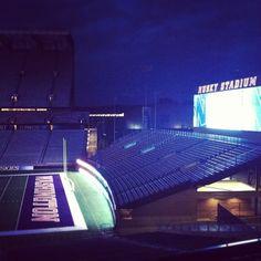 Husky Stadium is beautiful at night!