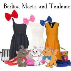 """""""Berlioz, Marie, and Toulouse"""" by bethanybrooks on Polyvore"""