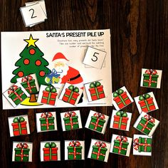 Working on math and literacy skills for your preschool students this December? Need some engaging activities that develop fine motor skills? Then you're going to LOVE the ideas, activities, resources, freebies and more included at this blog post! Click to download a fun count and clip card freebie. #ChristmasActivities #FineMotorPreschool