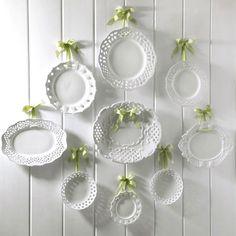 White Plates Wall Display