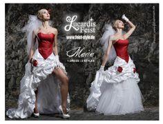 Feist - Besondere Brautmode. Extravagantes Brautkleid in Rot/Weiss ...
