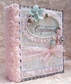 ELITE4U Shabby Chic Style Scrapbooking Album Flowers Lace Paper Piecing Toni | eBay