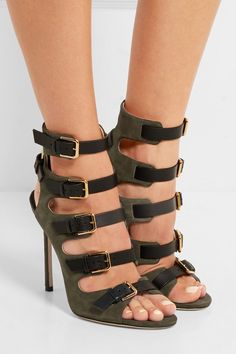 Jimmy #Choo Trick Suede Leather Sandals - 2016 Fall