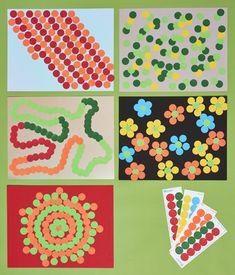 Crafts: 100th Day of School Dot Art