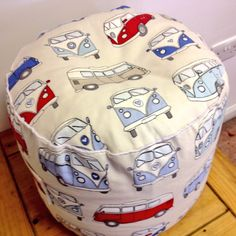 VW camper van bean bag pouffe