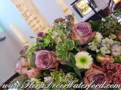 Nicola and Keith returned home from Australia to marry in Nicola's home parish,Dungarvan Co KK. The theme was Vintage, complete with gorg. Decor Wedding, Wedding Events, Wedding Decorations, Vintage Inspired, Vintage Style, Vintage Fashion, Church Wedding, Wedding Flowers, Floral Wreath