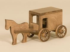 Wooden Amish Buggy Toy
