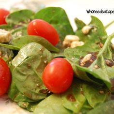 Spinach Salad with Honey Balsamic Dressing Recipe - ZipList
