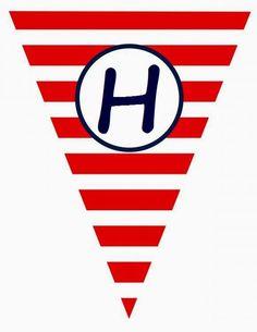 BulutsMom: Denizci Temalı Doğum Günü Banner Harfleri