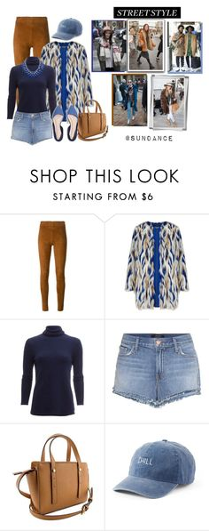 """Sundance Street Style"" by maggiecakes ❤ liked on Polyvore featuring STOULS, White + Warren, J Brand, SO and Adoriana"