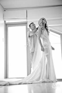 Flower Filled Black Tie Wedding || J'Aton Couture Dress