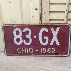 Vintage 1962 Ohio License Plate by oZdOinGItagaiN on Etsy, $15.00