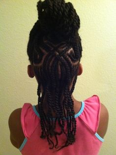 LITTLE GIRL HAIRSTYLES / BRAIDS / PROTECTIVE HAIRSTYLE / HAIRSTYLES / KIDS / BOW  / CORNROLLS / HAIRDO / UPDO / GIRL / TWIST HAIRSTYLE