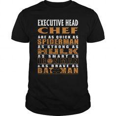 EXECUTIVE HEAD CHEF Are as Like as Spiderman Hulk Ironman Batman T Shirts, Hoodies. Check price ==► https://www.sunfrog.com/LifeStyle/EXECUTIVE-HEAD-CHEF--BATMAN-Black-Guys.html?41382